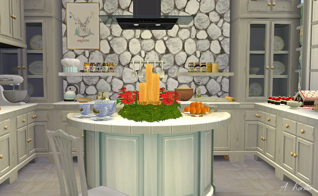 Sims 4 Christmas Cottage at Angelina Koritsa