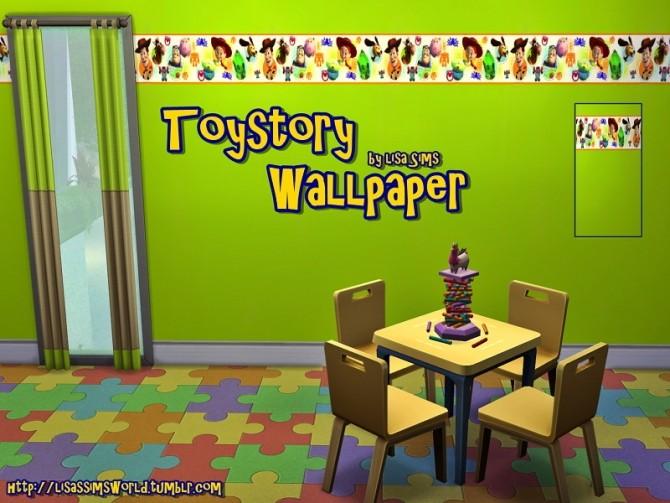 Sims 4 TOYSTORY WALLPAPER at Lisa Sims