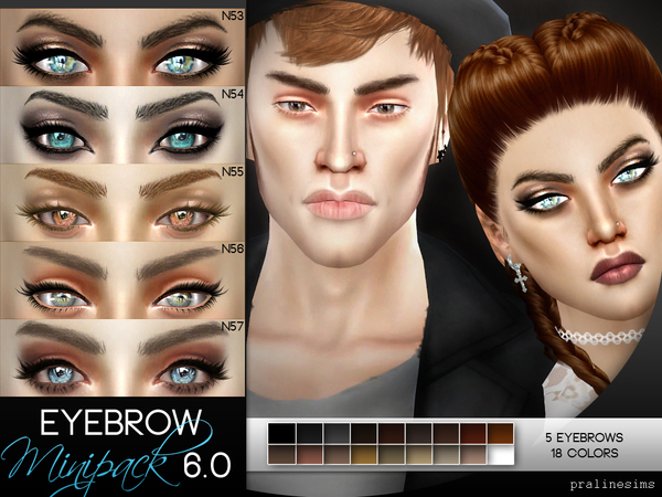 5 Eyebrows Minipack 6.0 by Pralinesims at TSR image 1312 Sims 4 Updates