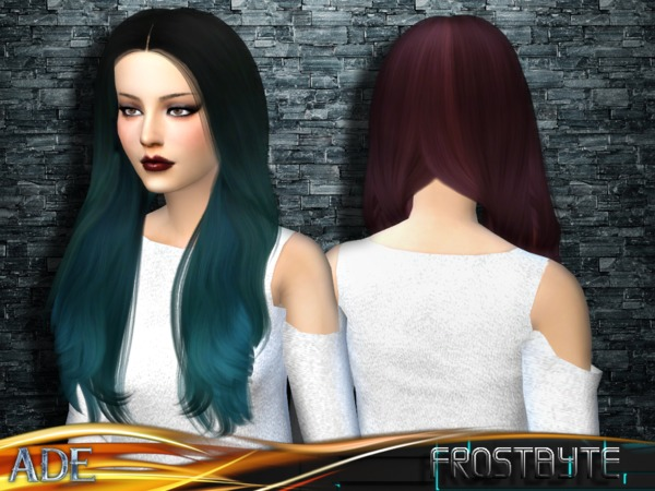 Frostbyte hair by Ade Darma at TSR image 13214 Sims 4 Updates