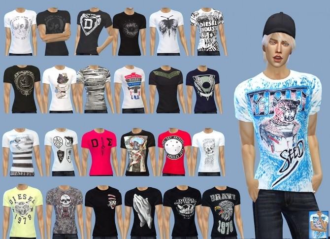 Sims 4 T shirts at Gisheld