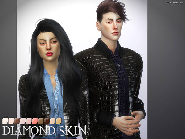 Sims 4 PS Diamond Skins by Pralinesims at TSR