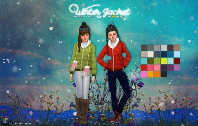 Child Winter Jacket at In a bad Romance » Sims 4 Updates