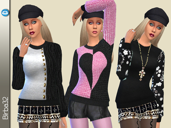 Big Sweaters by Birba32 at TSR image 1359 Sims 4 Updates