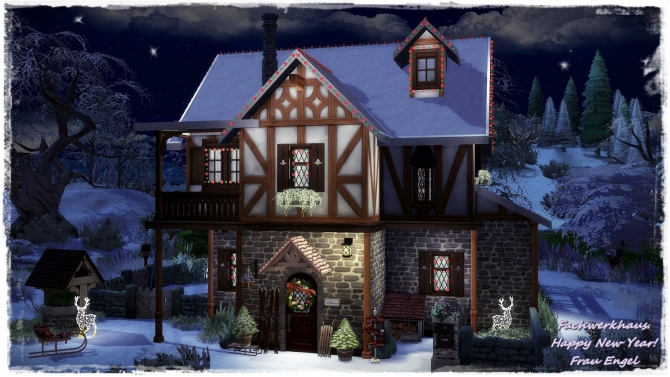 Tudor Style House Happy New Year At Frau Engel 187 Sims 4