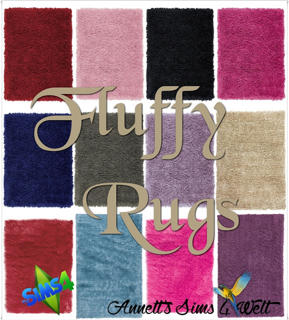Fluffy Rugs At Annett's Sims 4 Welt » Sims 4 Updates