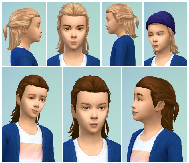 Sims 4 Long Tied Hair for Boys at Birksches Sims Blog