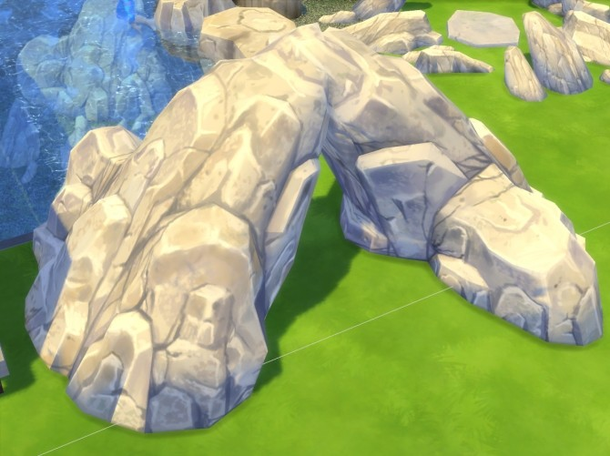 Sims 4 Rocks go through Maxis mesh edit by artrui at TSR