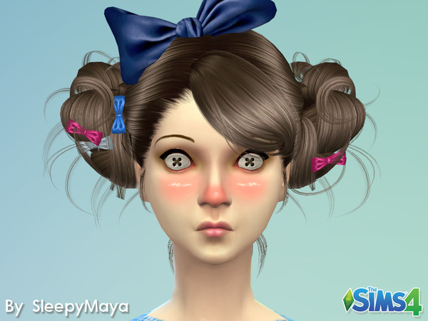 Sims 4 Button Eyes by SleepyMaya at TSR