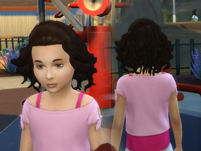 Sims 4 Soft Curls for Girls at My Stuff