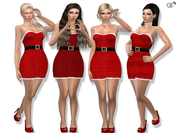 Classic Christmas dress at Cherryberry image 1433 Sims 4 Updates