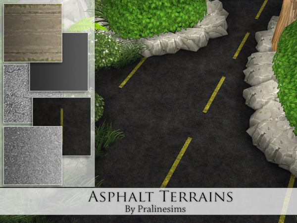 Asphalt Terrains By Pralinesims At Tsr 187 Sims 4 Updates