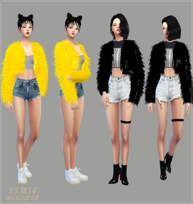Acc Fur Jacket At Marigold 187 Sims 4 Updates