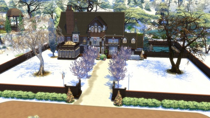 Olmstead Estate Holiday Mansion by Christine11778 at Mod The Sims image 1458 670x377 Sims 4 Updates