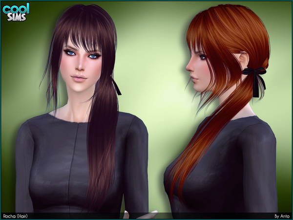 Sims 4 Rocha hair by Anto at TSR