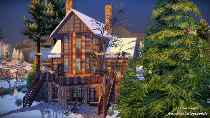 Christmas Cottage For Living Sims At Frau Engel 187 Sims 4