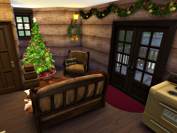 Sims 4 Hollybrook Lodge by petitchouchou at TSR