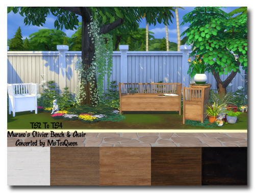 Sims 4 TS2 To TS4 Murano's Olivier set at Msteaqueen