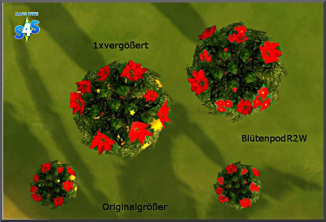 Sims 4 Christmas flowerpots by Christine1000 at Sims Marktplatz