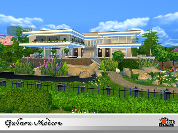 Gabara Modern house by autaki at TSR image 1568 Sims 4 Updates