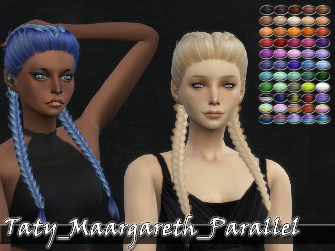 Sims 4 Maargareth Parallel Hair Retexture at Taty – Eámanë Palantír