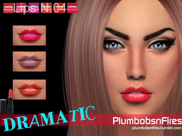 Sims 4 Dramatic Lips N.04 by Plumbobs n Fries at TSR