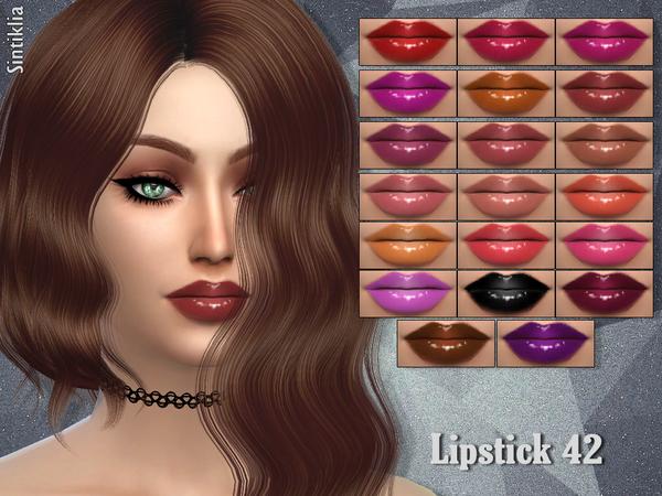Lipstick 42 by Sintiklia at TSR image 1623 Sims 4 Updates