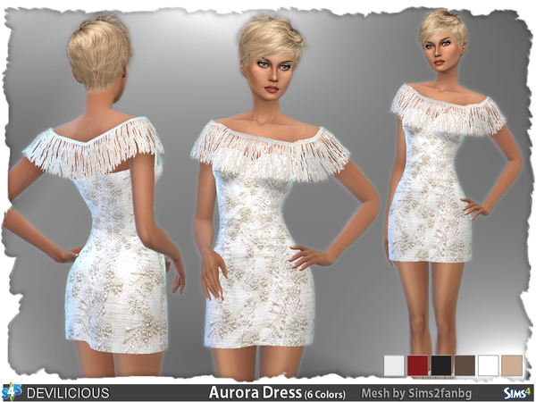 Aurora Dress by Devilicious at TSR image 1630 Sims 4 Updates