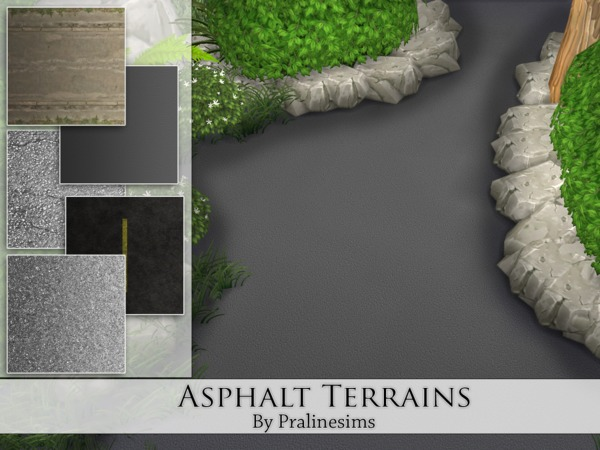 Sims 4 Asphalt Terrains by Pralinesims at TSR