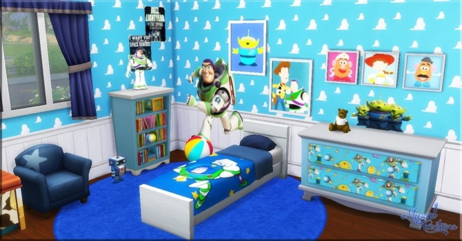 Sims 4 Toy Story bedroom at Victor Miguel