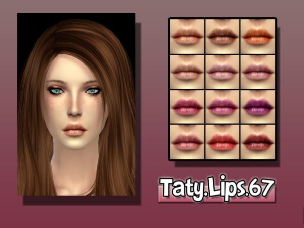 Sims 4 Taty Lips 67 by tatygagg at TSR