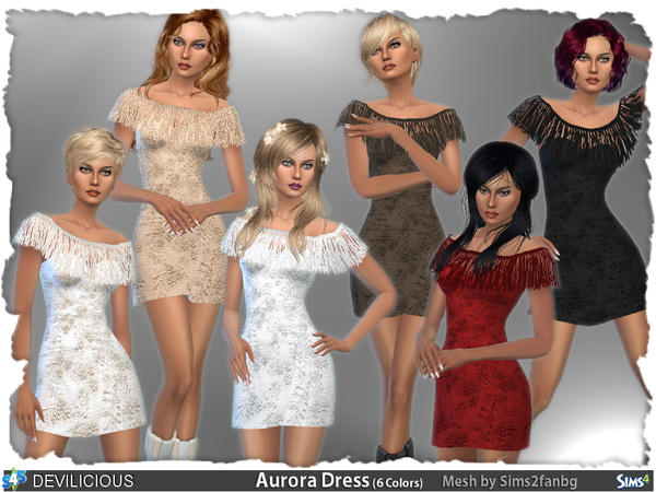 Aurora Dress by Devilicious at TSR image 1728 Sims 4 Updates