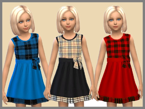 Tartan Girls Dresses by SweetDreamsZzzzz at TSR image 1730 Sims 4 Updates