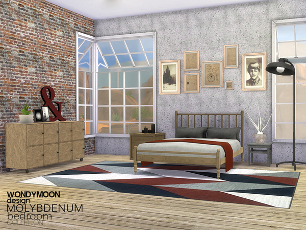 Molybdenum Bedroom by wondymoon at TSR image 1750 Sims 4 Updates