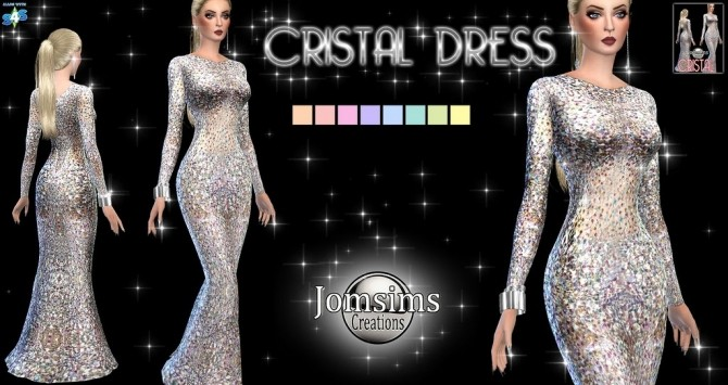 Cristal dress at Jomsims Creations image 1773 670x355 Sims 4 Updates