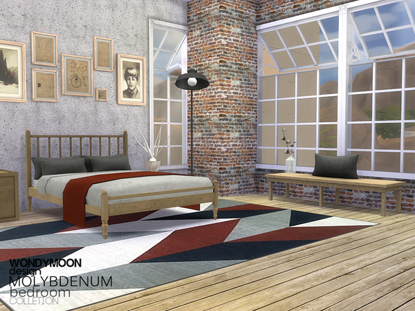 Molybdenum Bedroom by wondymoon at TSR image 1840 Sims 4 Updates