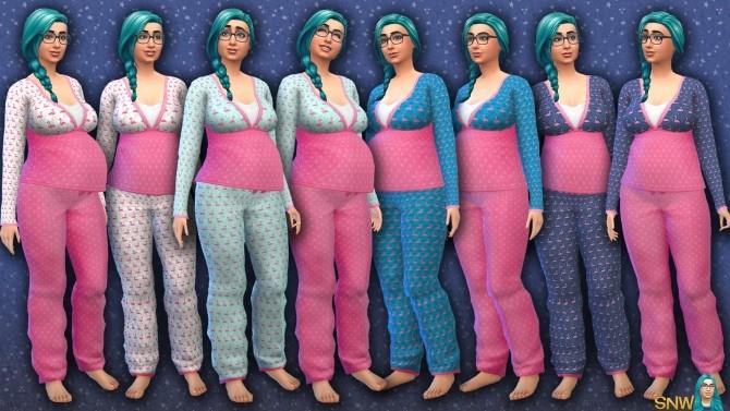 Sims 4 Maternity Flamingo Pants at Sims Network – SNW