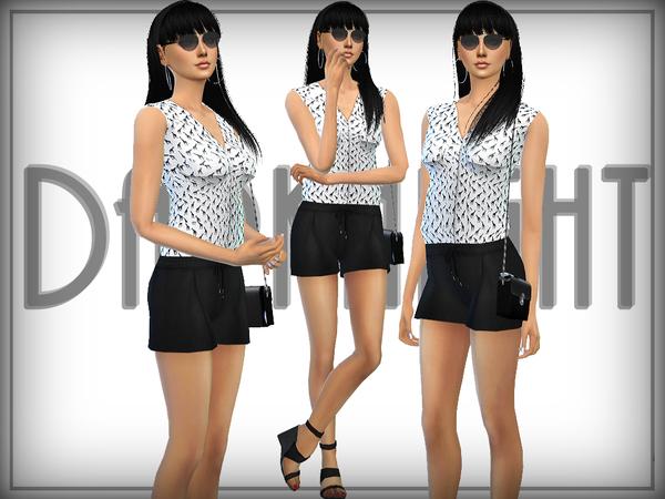 Short Elegant Jumpsuit by DarkNighTt at TSR image 190 Sims 4 Updates