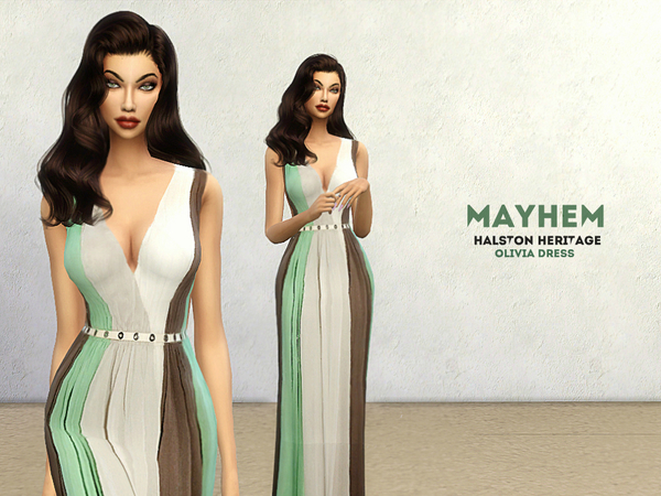 Sims 4 Olivia Dress by NataliMayhem at TSR