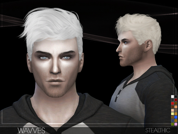 Sims 4 Wavves Male Hair by Stealthic at TSR