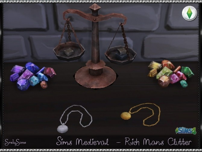 Sims 4 Sims Medieval Rich Mans Clutter at SrslySims