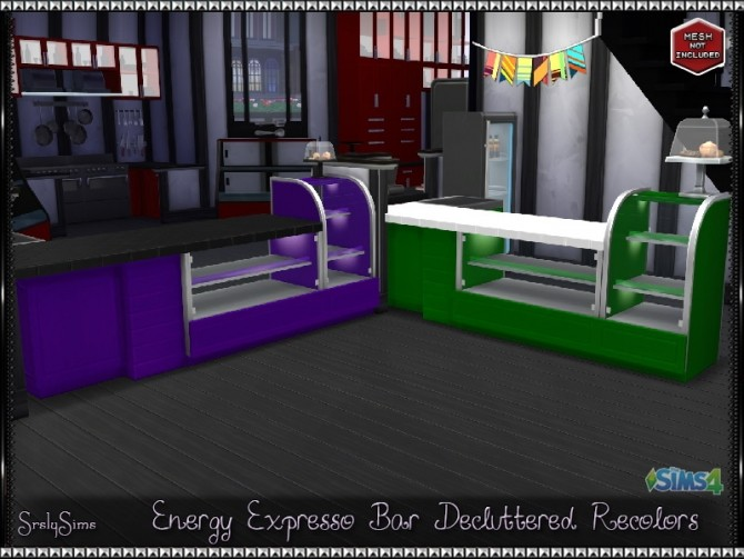 Energy Espresso Bar Decluttered Recolors At Srslysims