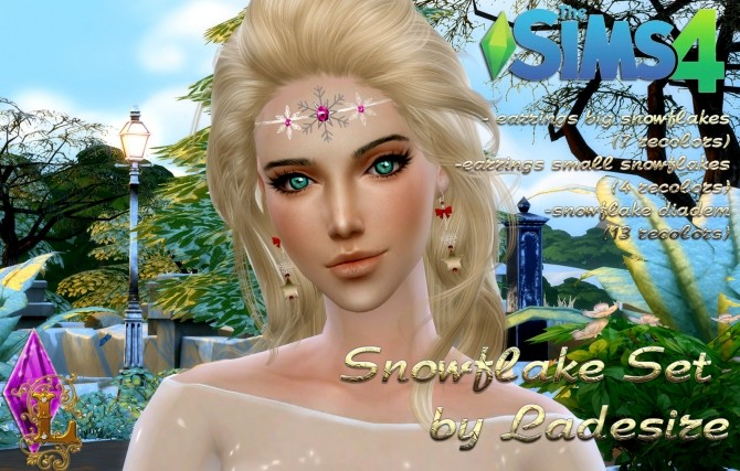 Sims 4 Snowflake Accessories Set at Ladesire