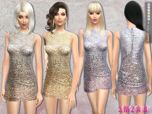 Sims 4 Cocktail dress by sims2fanbg at TSR