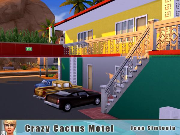 Sims 4 Crazy Cactus Motel by Jenn Simtopia at TSR