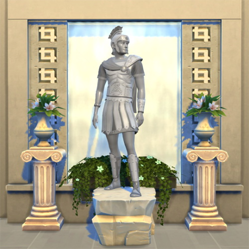 Sims 4 Spartan Statue Outfit at W Sims
