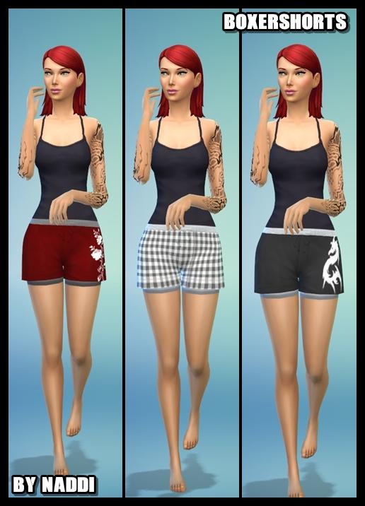 Sims 4 SHORTS FOR GIRLS at Naddi