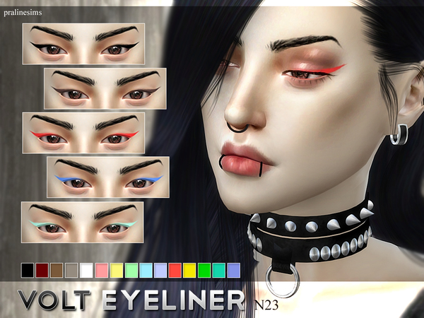 Volt Eyeliner N23 by Pralinesims at TSR image 215 Sims 4 Updates