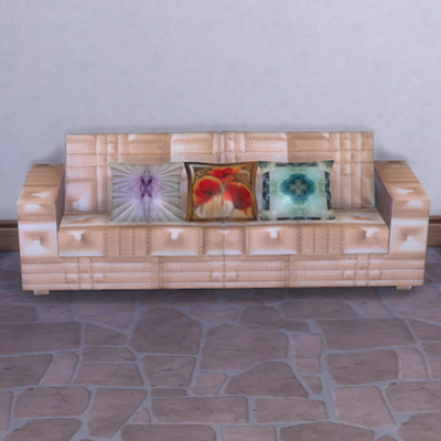 Leather Sofa and pillows at Trudie55 image 2163 Sims 4 Updates