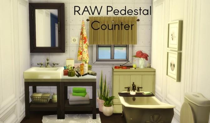 RAW Pedestal Counter at Dri4na image 2164 670x393 Sims 4 Updates